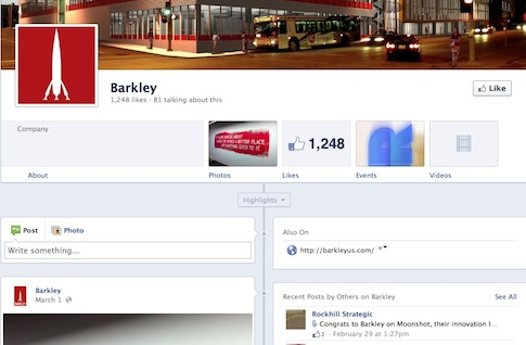 Barkley's Facebook Timeline