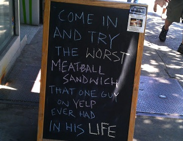 Making the best of a bad Yelp review.